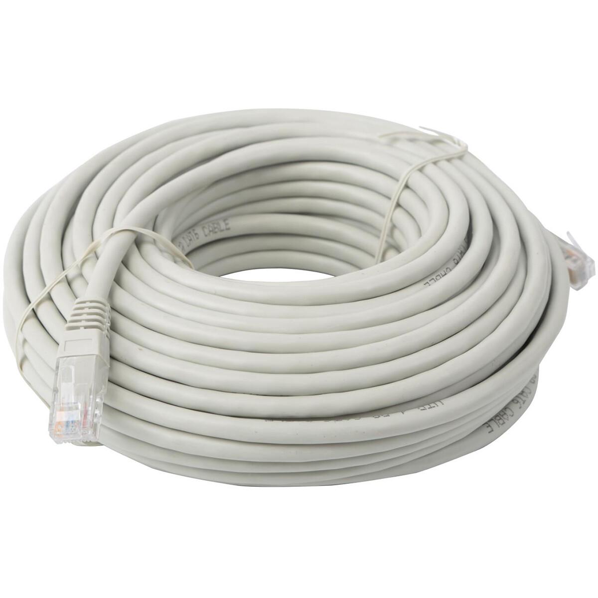 Netwerkkabel - Aigi Atryn - Cat6 UTP - 20 Meter - Koper - Grijs