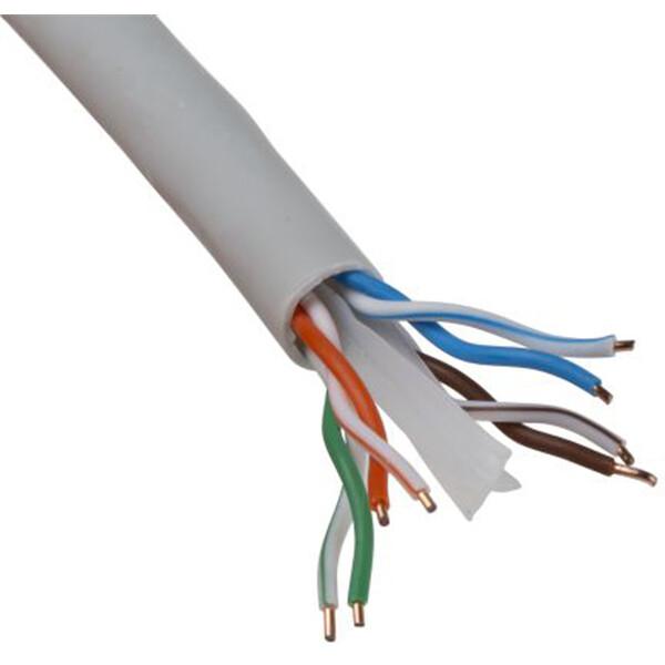 Netwerkkabel - Priso Cata - Cat6 UTP Box - 100 Meter - Stugge Kern - Koper - Grijs