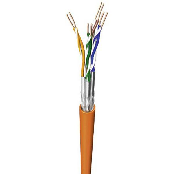 Netwerkkabel - Priso Cata - Cat7 UTP Box - 100 Meter - Stugge Kern - Koper - Oranje