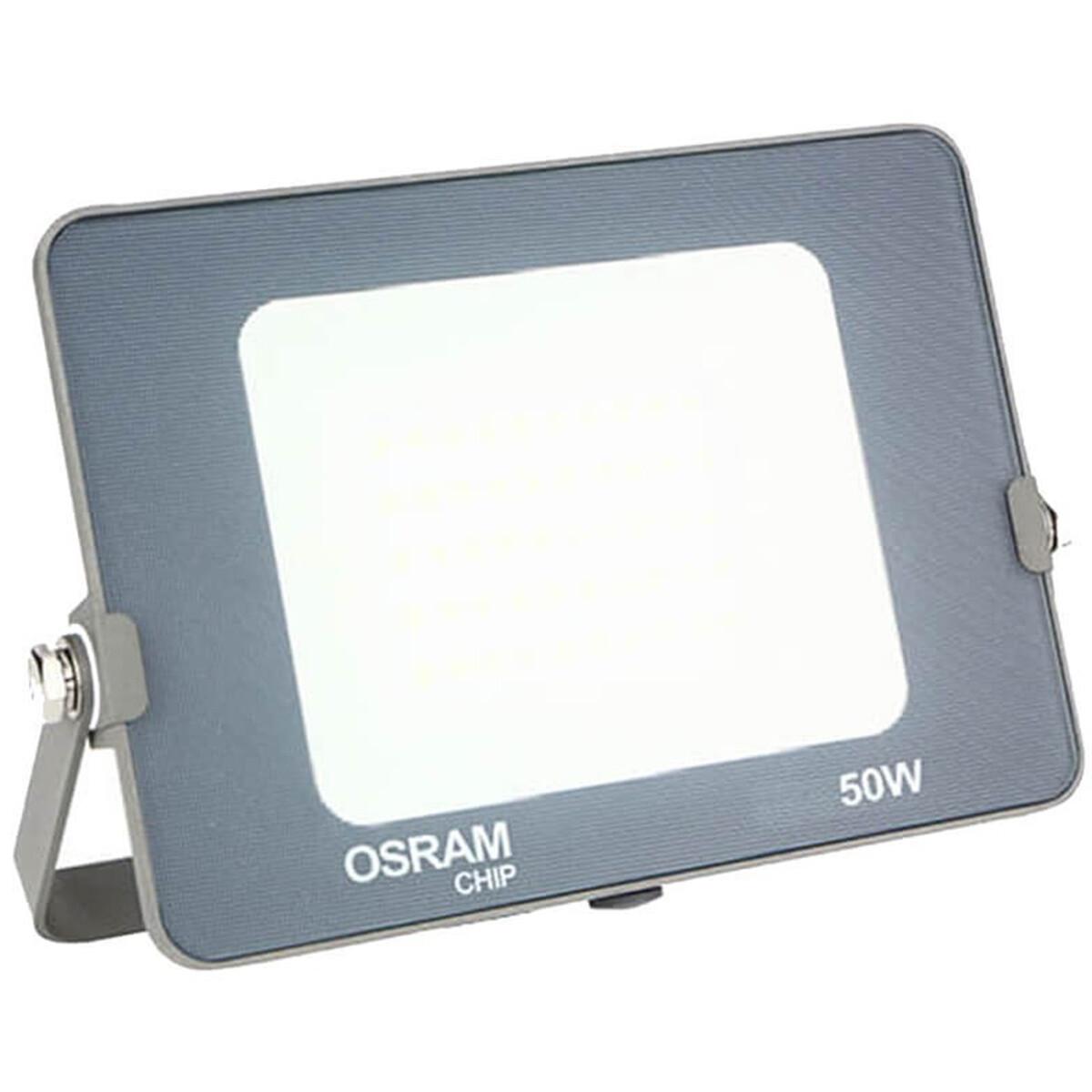OSRAM - LED Bouwlamp 50 Watt - LED Schijnwerper - Warm Wit 3000K - Waterdicht IP65