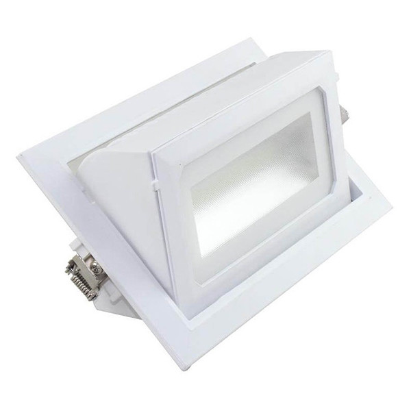 OSRAM - LED Downlight - Inbouw Rechthoek 36W - Warm Wit 3000K - Mat Wit Aluminium - Kantelbaar 230x1