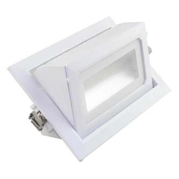 OSRAM - LED Downlight - Inbouw Rechthoek 40W - Aanpasbare Kleur CCT - Mat Wit Aluminium - Kantelbaar
