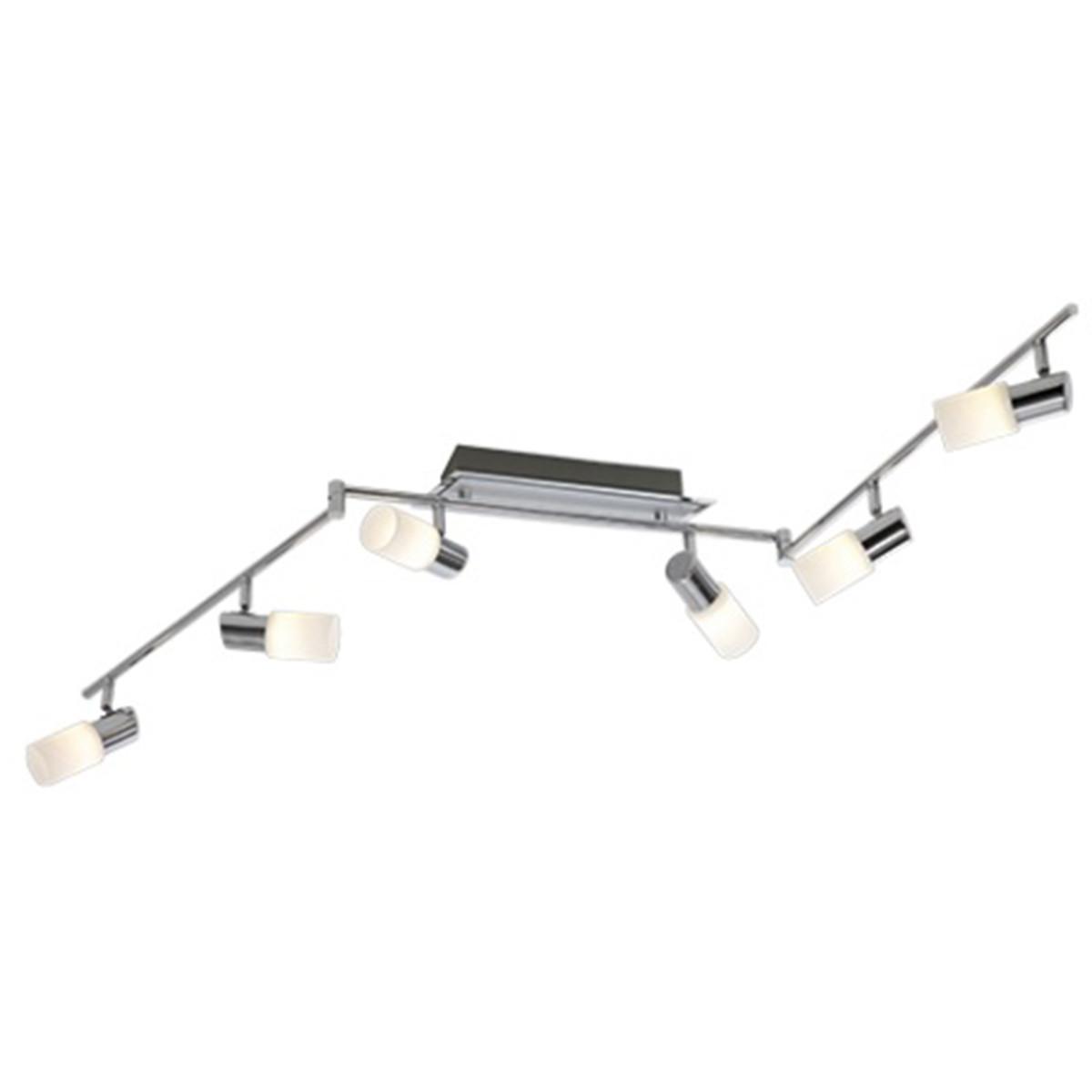 OSRAM - LED Plafondspot - Trion Clupo - 24W - Warm Wit 3000K - 6-lichts - Rechthoek - Mat Chroom - A