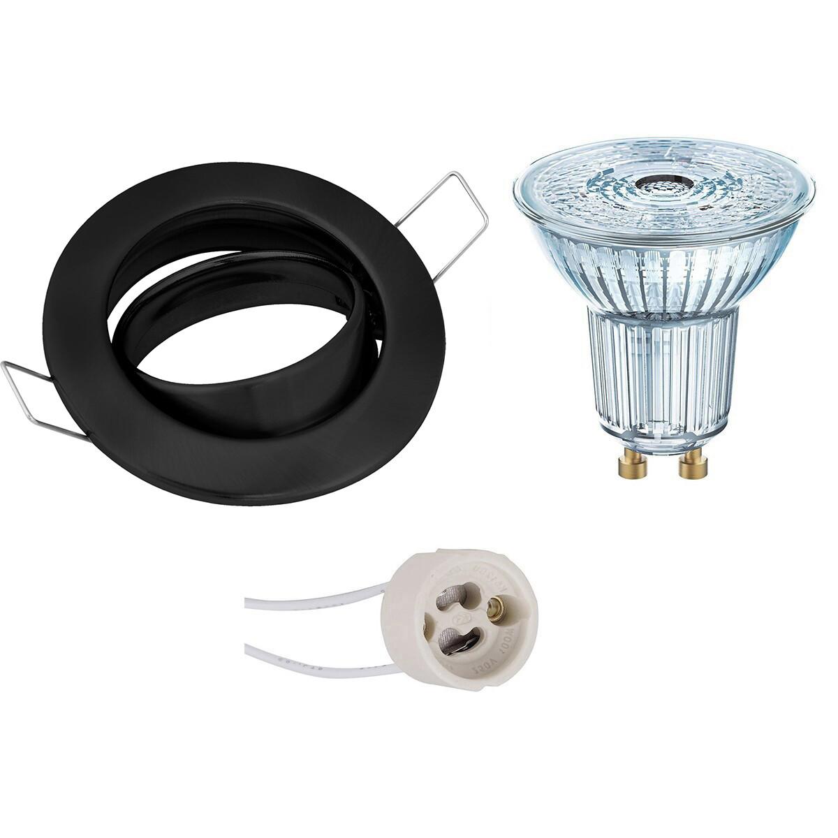 OSRAM - LED Spot Set - Parathom PAR16 940 36D - GU10 Fitting - Dimbaar - Inbouw Rond - Mat Zwart - 3