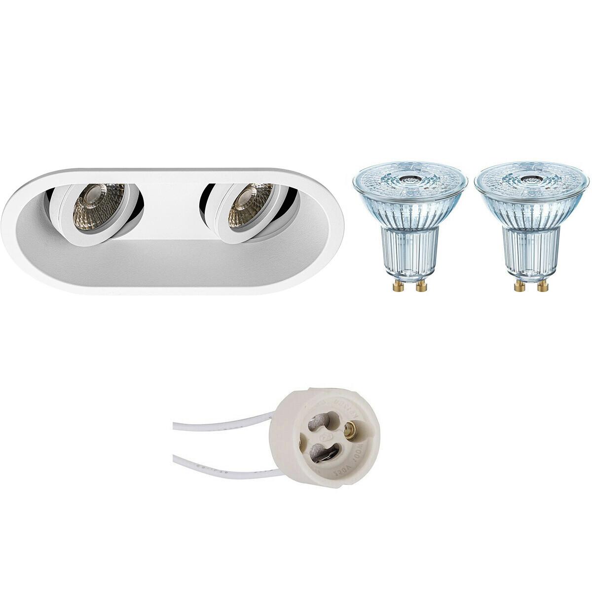 OSRAM - LED Spot Set - Parathom PAR16 930 36D - Pragmi Zano Pro - GU10 Fitting - Dimbaar - Inbouw Ov