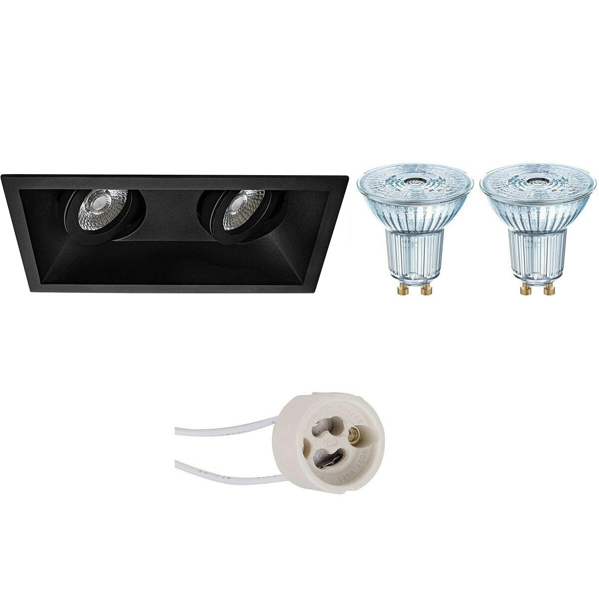 OSRAM - LED Spot Set - Parathom PAR16 940 36D - Pragmi Zano Pro - GU10 Fitting - Dimbaar - Inbouw Re