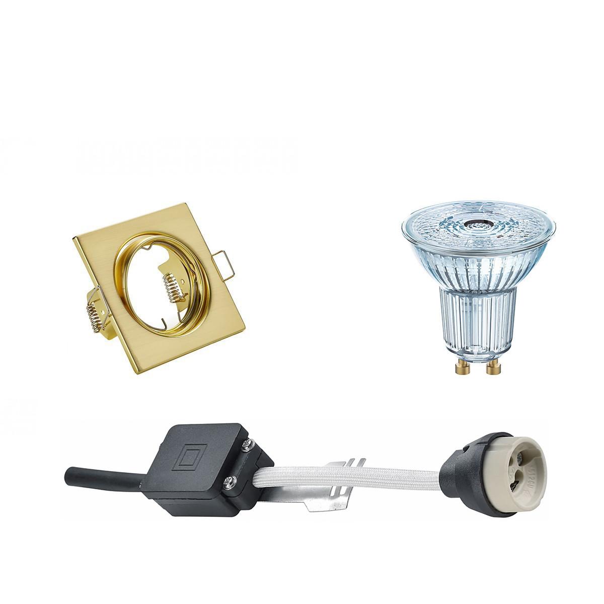 OSRAM - LED Spot Set - Parathom PAR16 940 36D - GU10 Fitting - Dimbaar - Inbouw Vierkant - Mat Goud