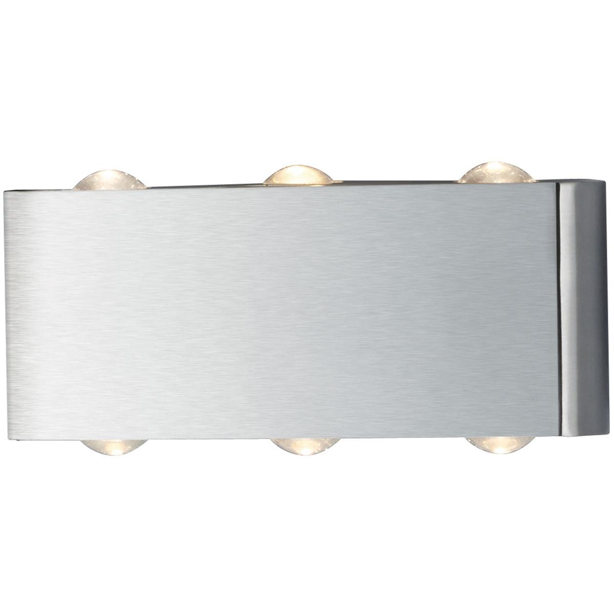 OSRAM - LED Wandlamp - Trion Abironidan - 6W - Warm Wit 3000K - 6-lichts - Rechthoek - Mat Nikkel -