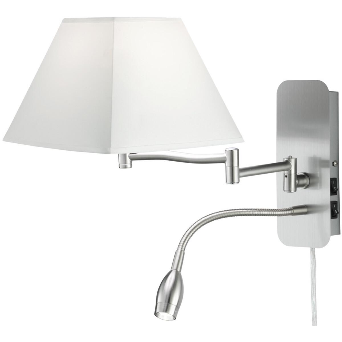 OSRAM - LED Wandlamp - Trion Hotia - E14 Fitting - 3W - Warm Wit 3000K - Vierkant - Mat Wit - Alumin