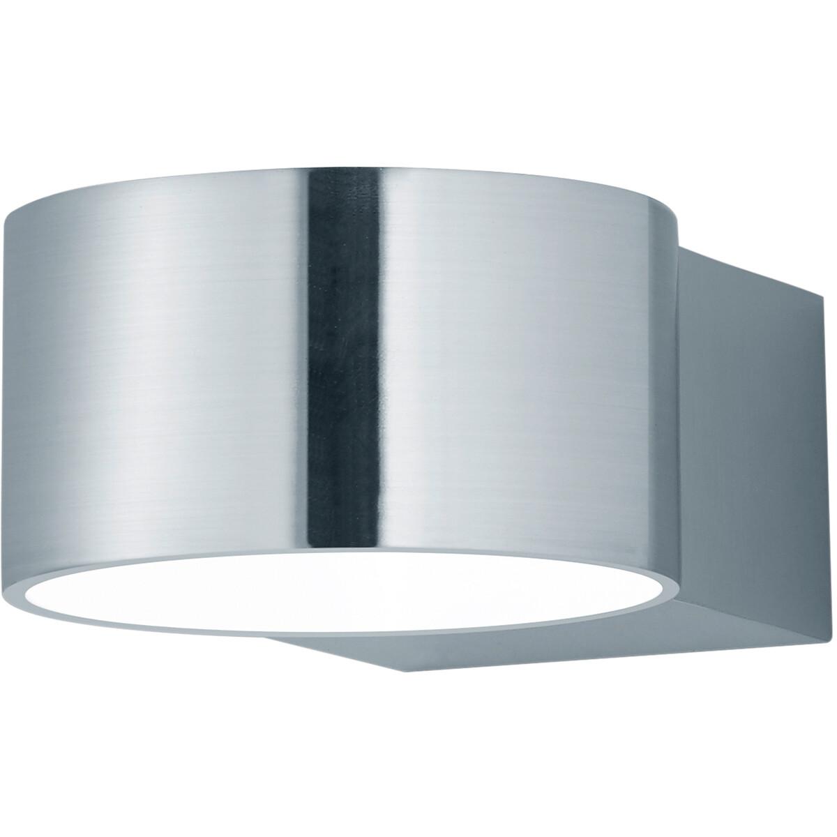 OSRAM - LED Wandlamp - Trion Lapaco - 4W - Warm Wit 3000K - Rond - Mat Nikkel - Aluminium