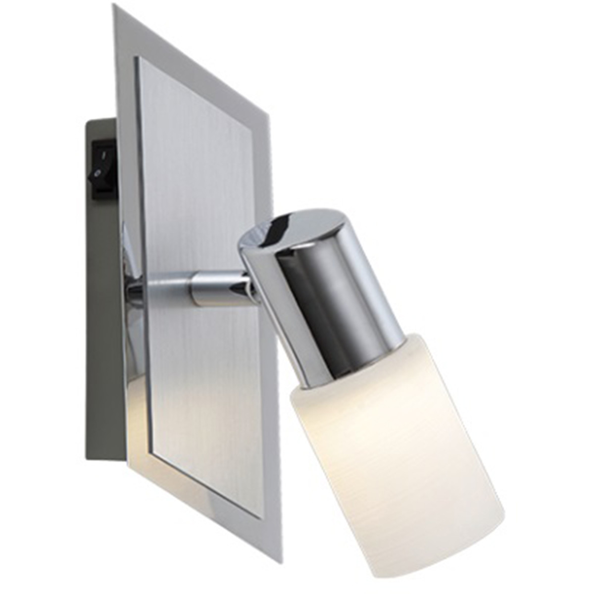 OSRAM - LED Wandspot - Trion Clupo - 4W - Warm Wit 3000K - 1-lichts - Rechthoek - Mat Chroom - Alumi
