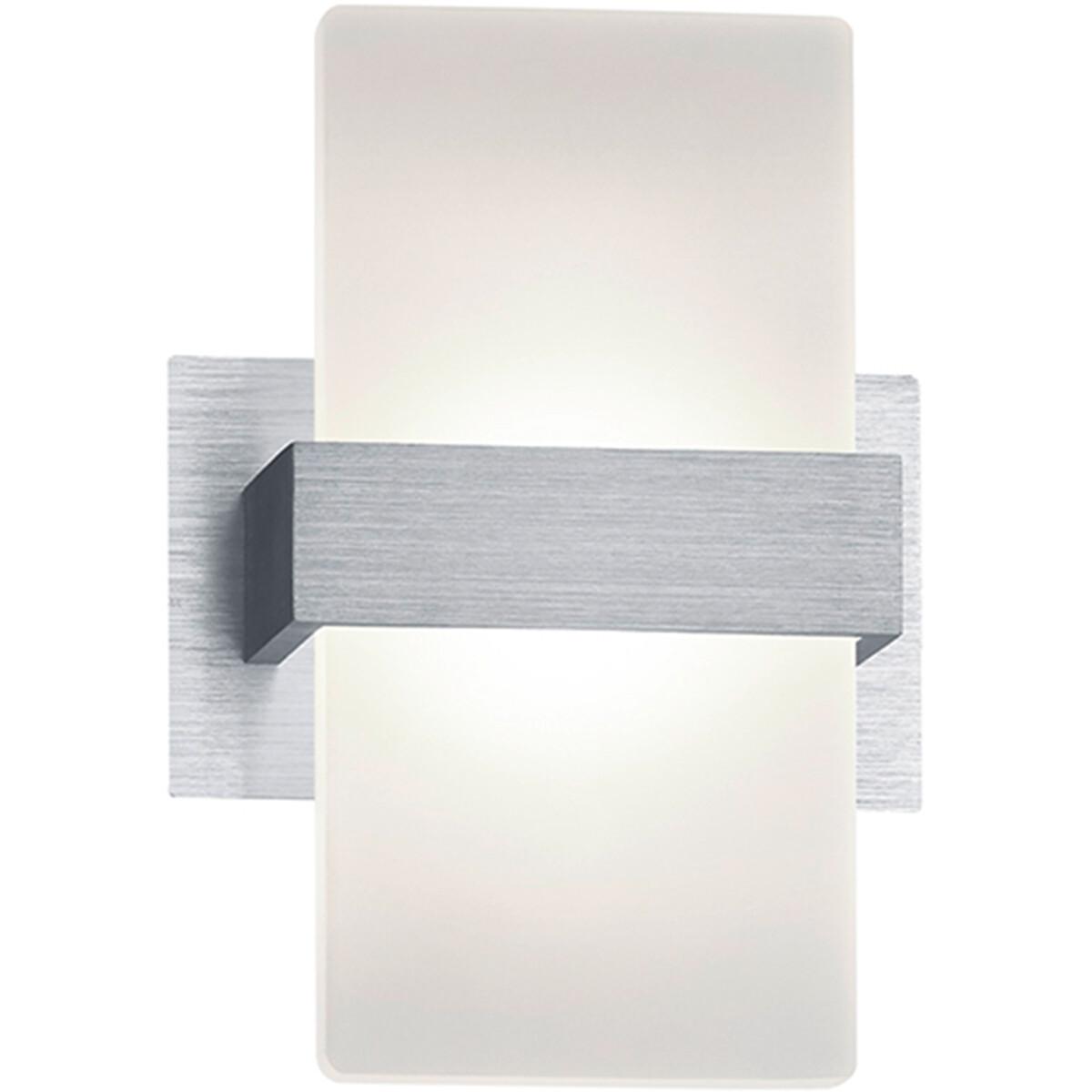 OSRAM - LED Wandspot - Trion Plankton - 4W - Warm Wit 3000K - 1-lichts - Rechthoek - Mat Grijs - Alu