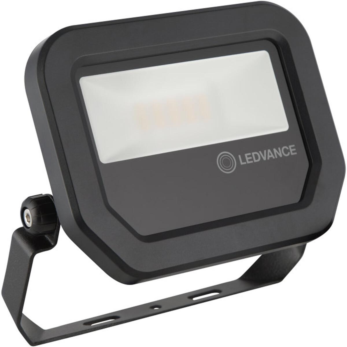 OSRAM - LEDVANCE - LED Breedstraler 10 Watt - LED Schijnwerper - FL PFM SYM 100 BK - Natuurlijk Wit