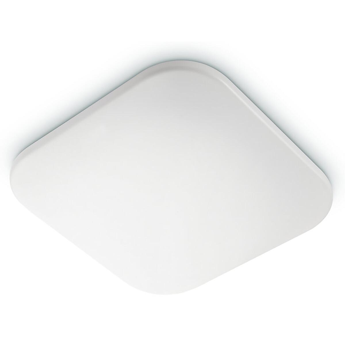PHILIPS - LED Plafondlamp - MyLiving Mauve - 17W - Warm Wit 2700K - Vierkant - Mat Wit - Kunststof