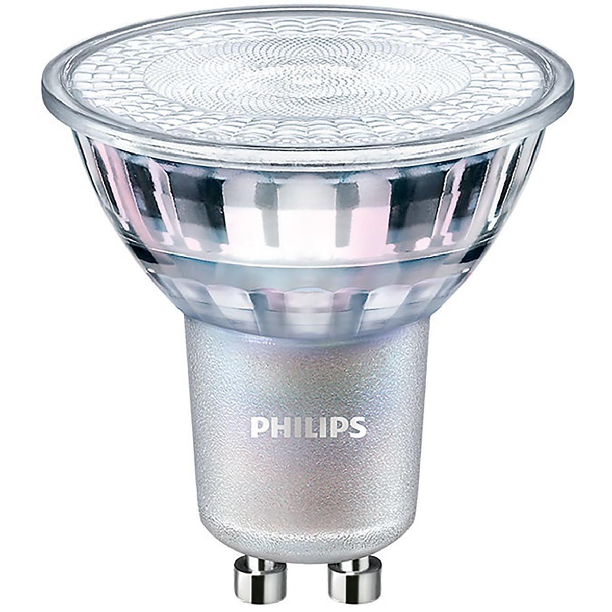 PHILIPS - LED Spot - MASTER 927 36D VLE - GU10 Fitting - DimTone Dimbaar - 4.9W - Warm Wit 2200K-270