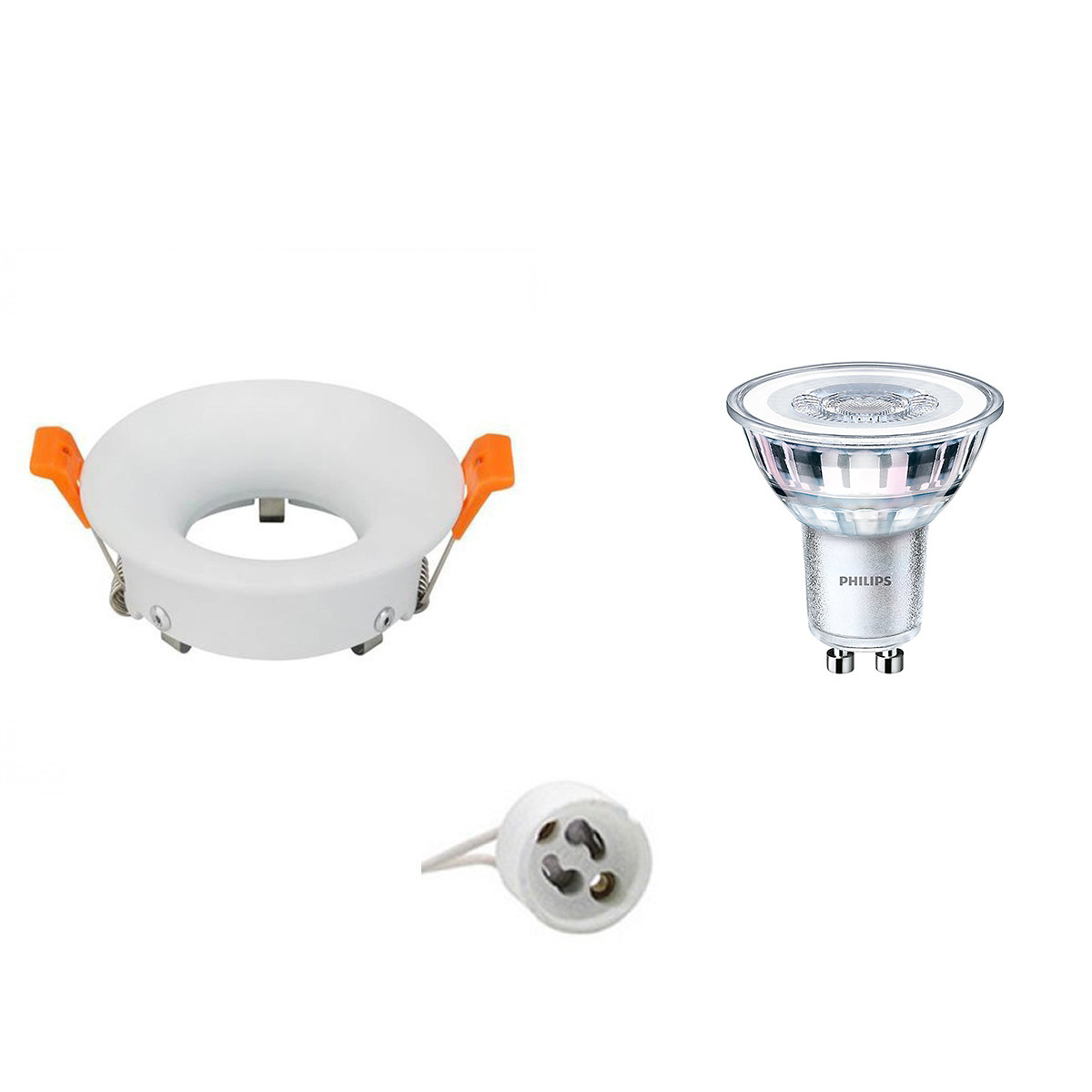 PHILIPS - LED Spot Set - CorePro 840 36D - GU10 Fitting - Dimbaar - Inbouw Rond - Mat Wit - 4W - Nat