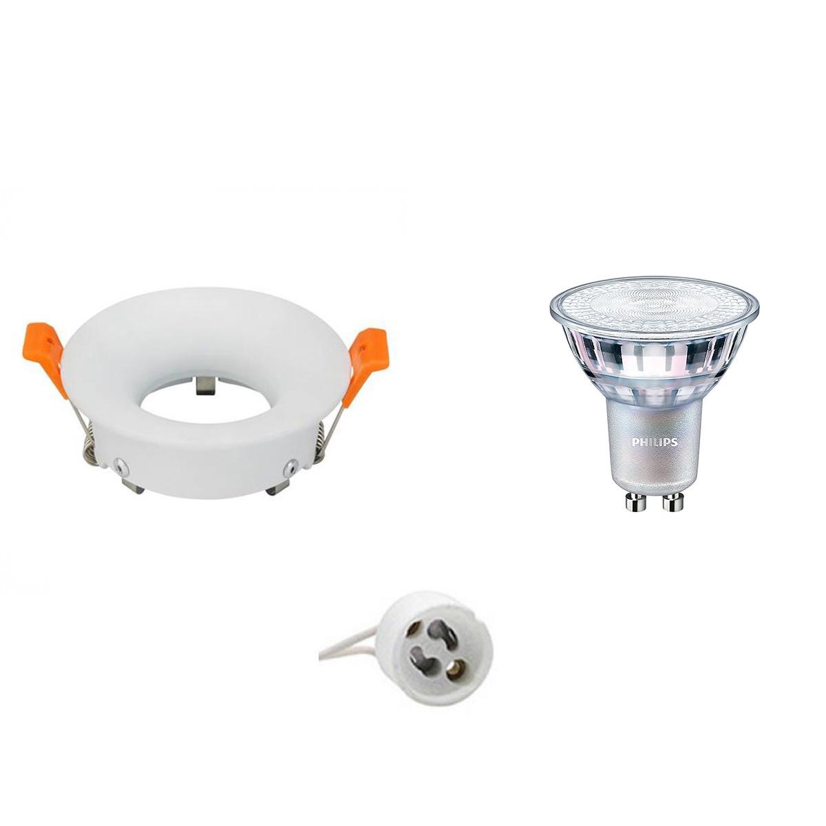 PHILIPS - LED Spot Set - MASTER 927 36D VLE - GU10 Fitting - DimTone Dimbaar - Inbouw Rond - Mat Wit
