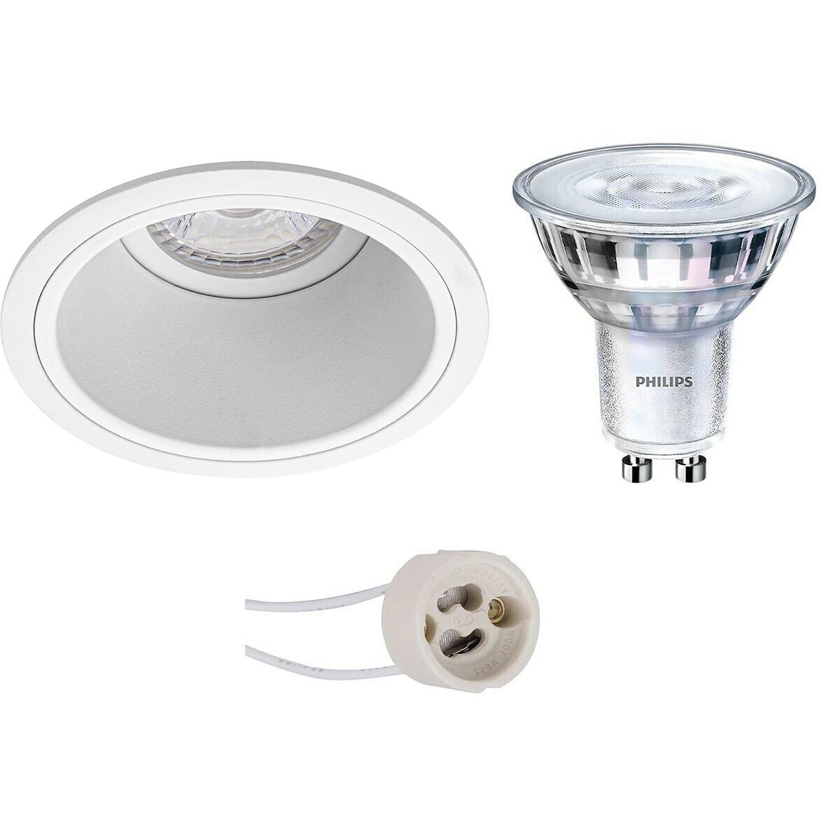 PHILIPS - LED Spot Set - SceneSwitch 827 36D - Pragmi Minko Pro - GU10 Fitting - Dimbaar - Inbouw Ro