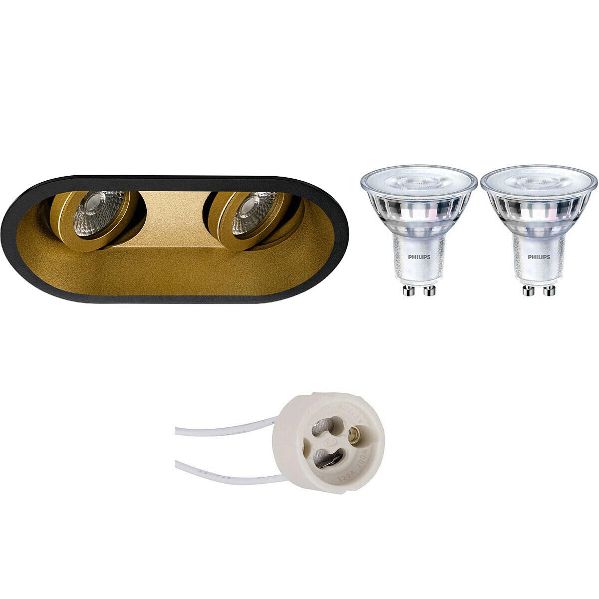 PHILIPS - LED Spot Set - SceneSwitch 827 36D - Pragmi Zano Pro - GU10 Fitting - Dimbaar - Inbouw Ova