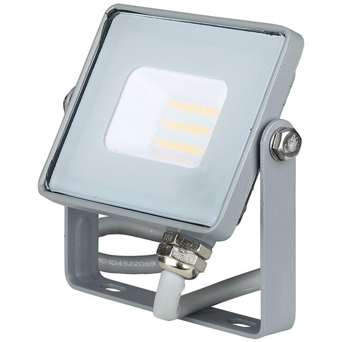 SAMSUNG - LED Bouwlamp 10 Watt - LED Schijnwerper - Viron Dana - Helder/Koud Wit 6400K - Mat Grijs - Aluminium