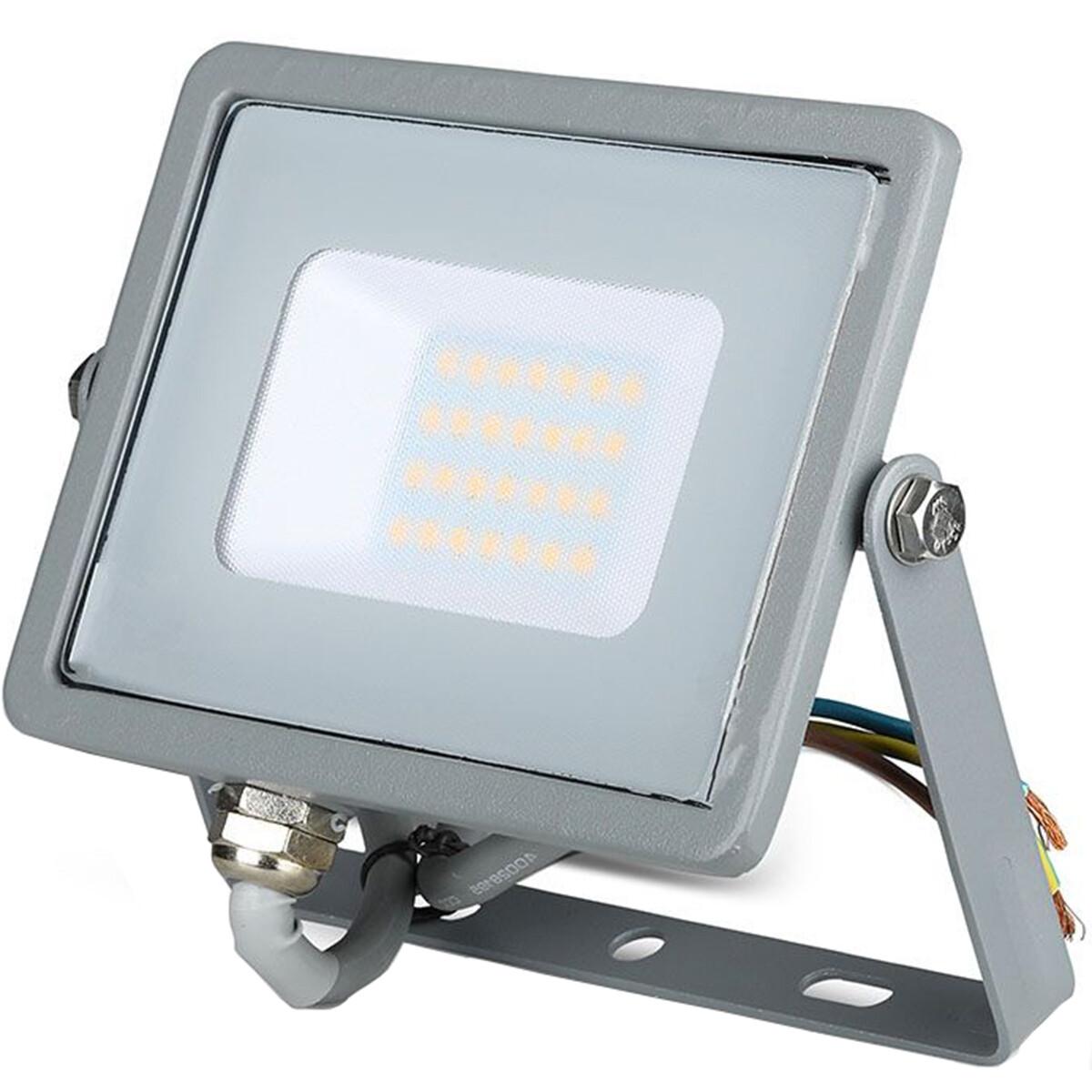 SAMSUNG - LED Bouwlamp 20 Watt - LED Schijnwerper - Viron Dana - Helder/Koud Wit 6400K - Mat Grijs - Aluminium