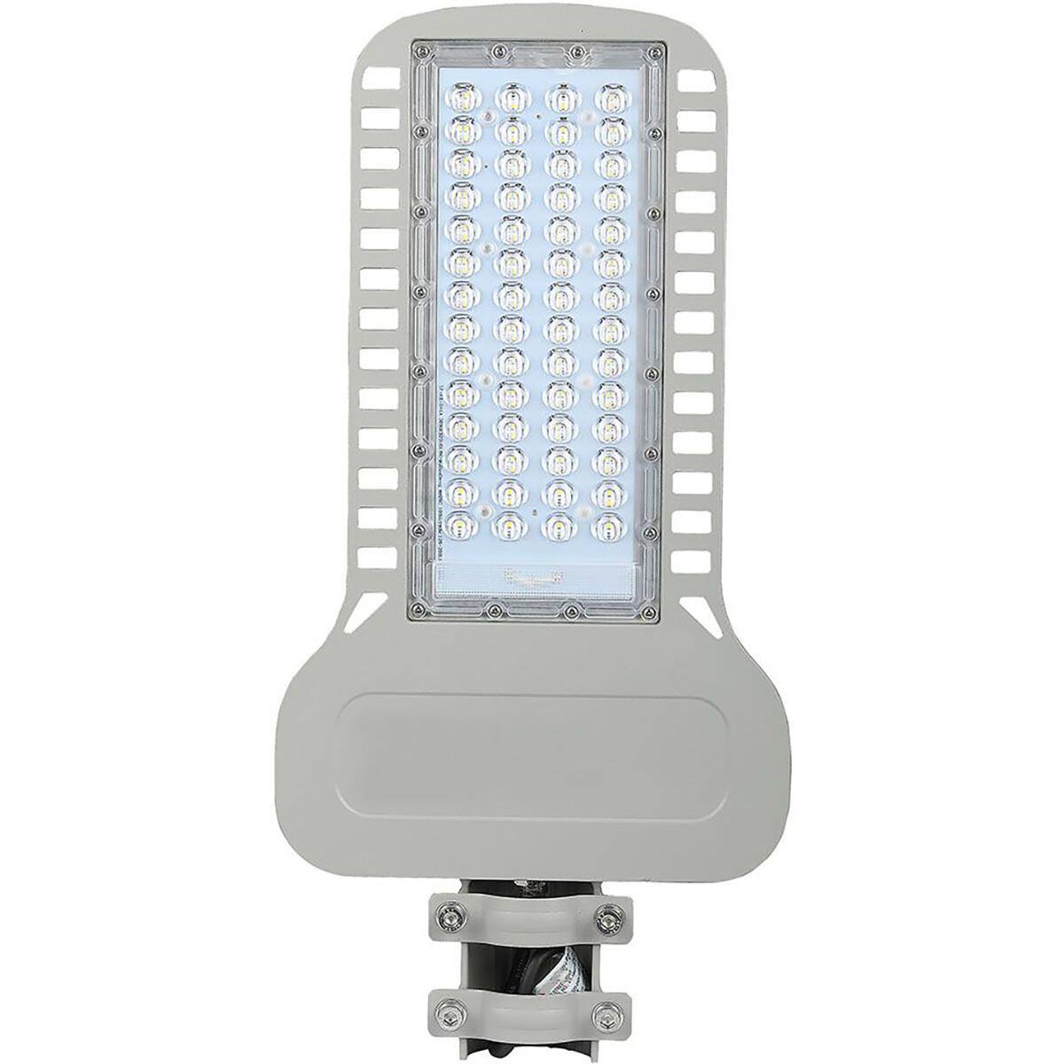 SAMSUNG - LED Straatlamp Slim - Viron Unato - 100W - Helder/Koud Wit 6400K - Waterdicht IP65 - Mat G