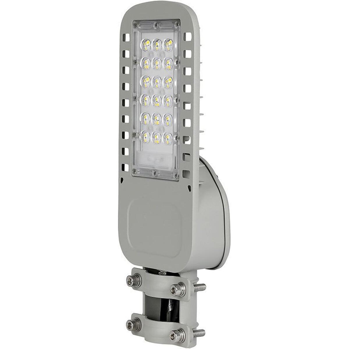 SAMSUNG - LED Straatlamp Slim - Viron Unato - 30W - Helder/Koud Wit 6400K - Waterdicht IP65 - Mat Gr