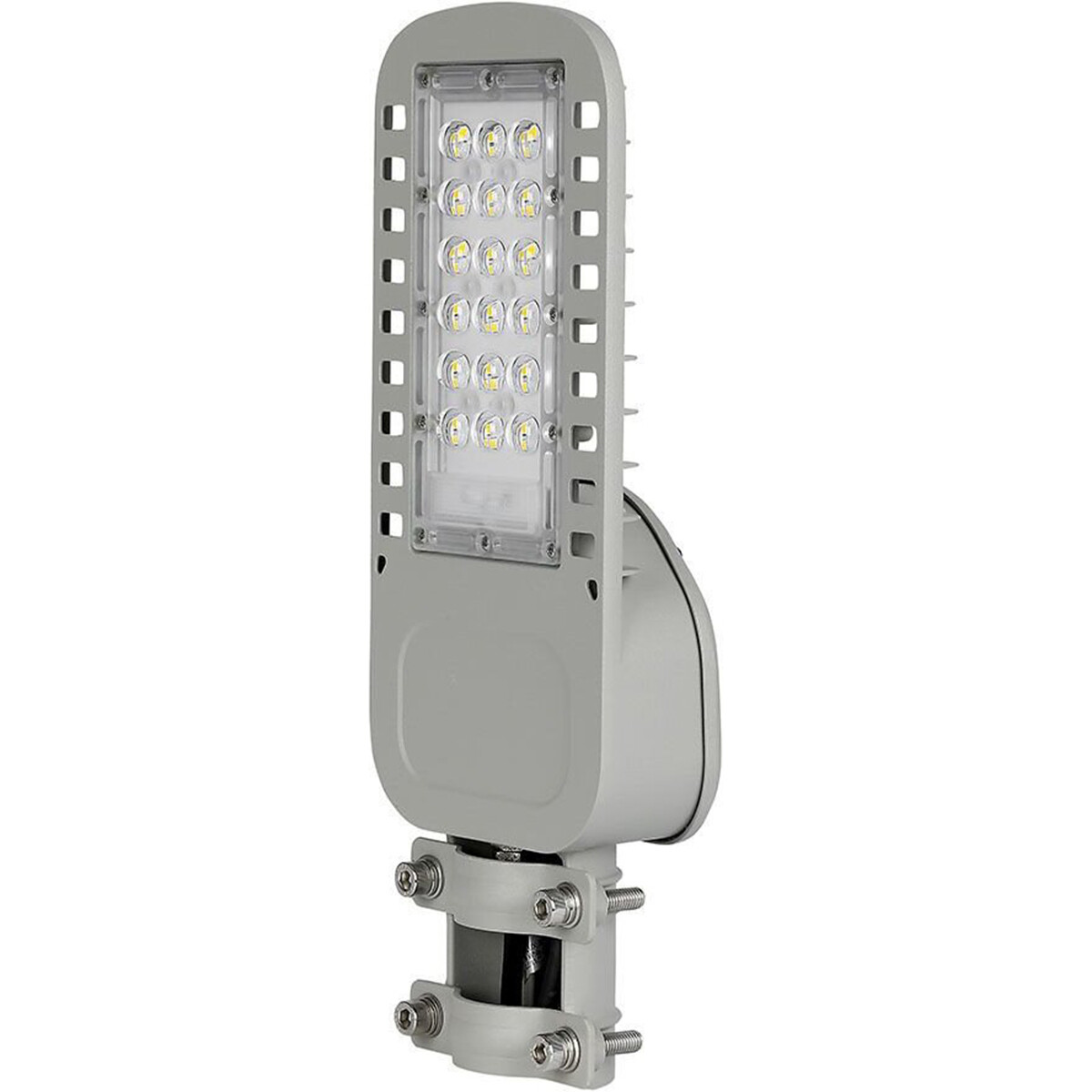 SAMSUNG - LED Straatlamp Slim - Viron Unato - 30W - Natuurlijk Wit 4000K - Waterdicht IP65 - Mat Gri