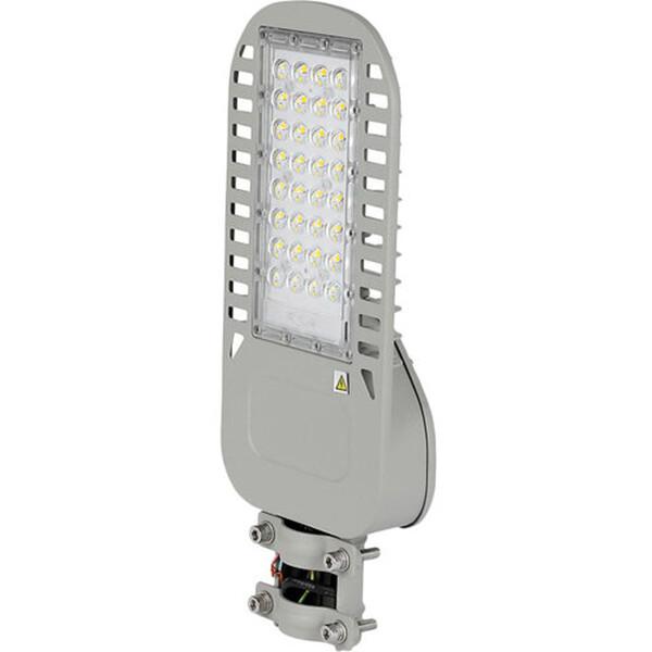 SAMSUNG - LED Straatlamp Slim - Viron Unato - 50W - Natuurlijk Wit 4000K - Waterdicht IP65 - Mat Gri