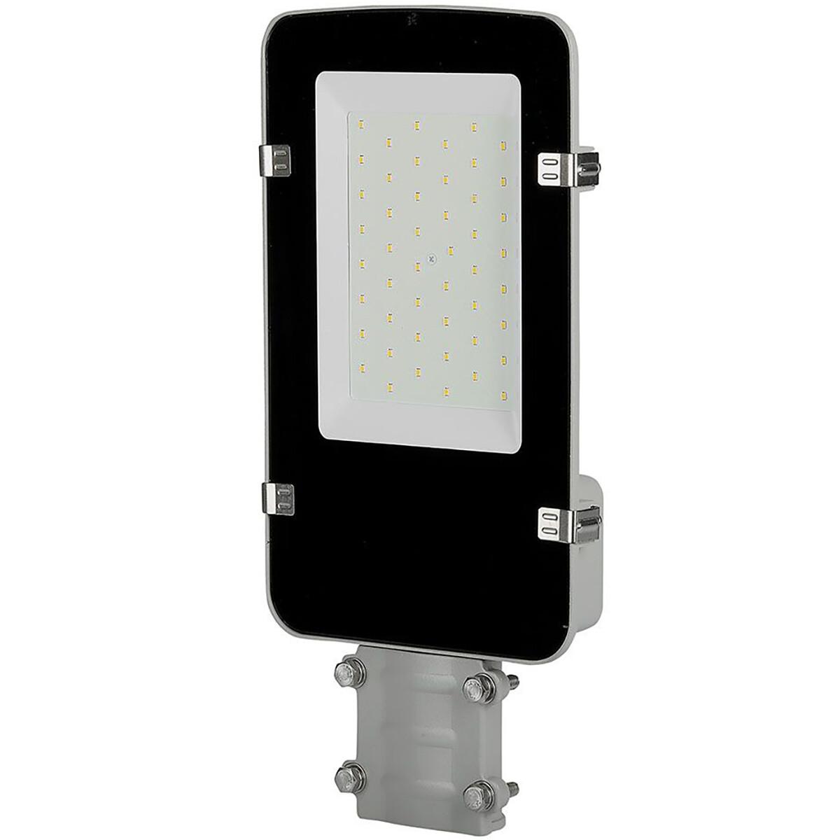 SAMSUNG - LED Straatlamp - Viron Anno - 30W - Natuurlijk Wit 4000K - Waterdicht IP65 - Mat Zwart - A