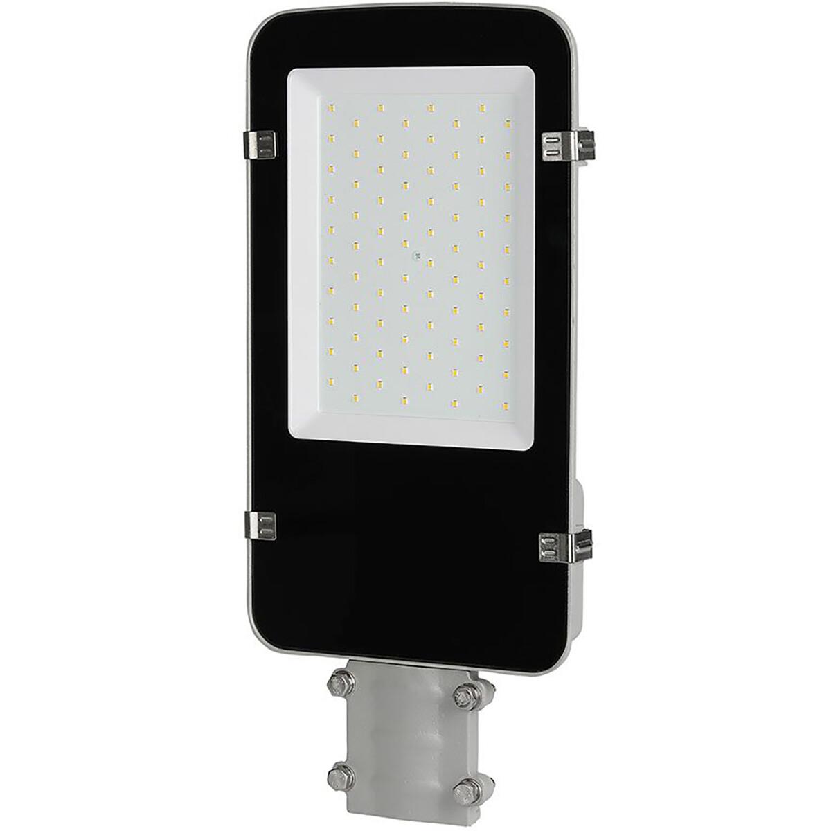 SAMSUNG - LED Straatlamp - Viron Anno - 50W - Helder/Koud Wit 6400K - Waterdicht IP65 - Mat Zwart -