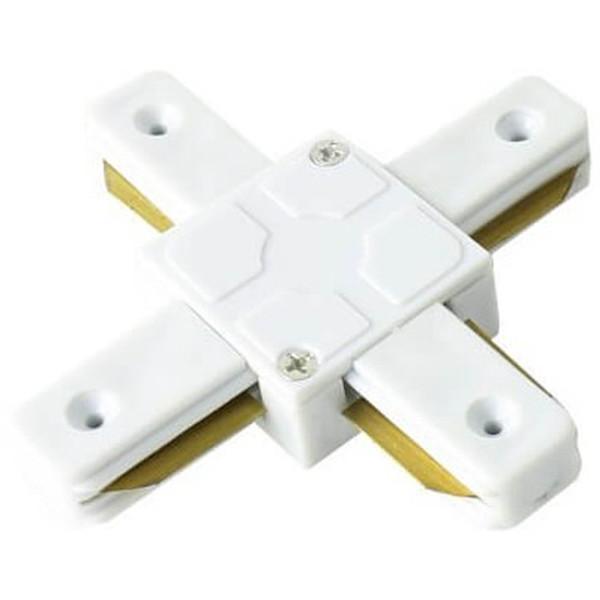 Spanningsrail Doorverbinder - Facto - X Kruis Koppeling - 1 Fase - Wit
