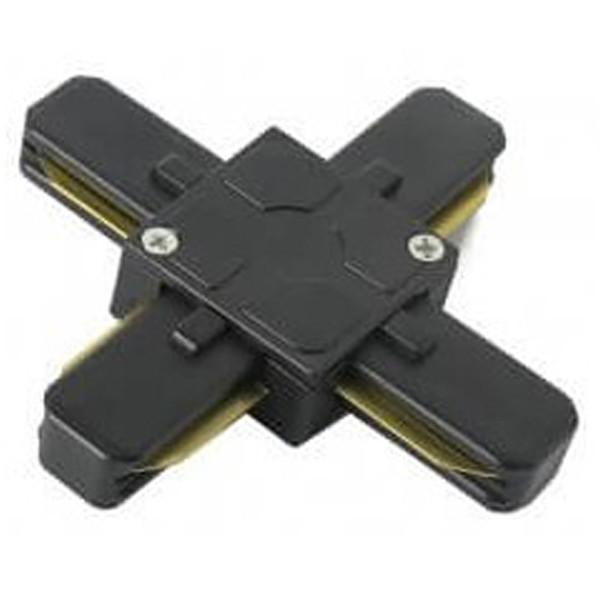 Spanningsrail Doorverbinder - Facto - X Kruis Koppeling - 1 Fase - Zwart
