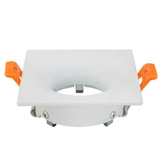 Spot Armatuur GU10 - Inbouw Vierkant - Mat Wit Aluminium - 85mm