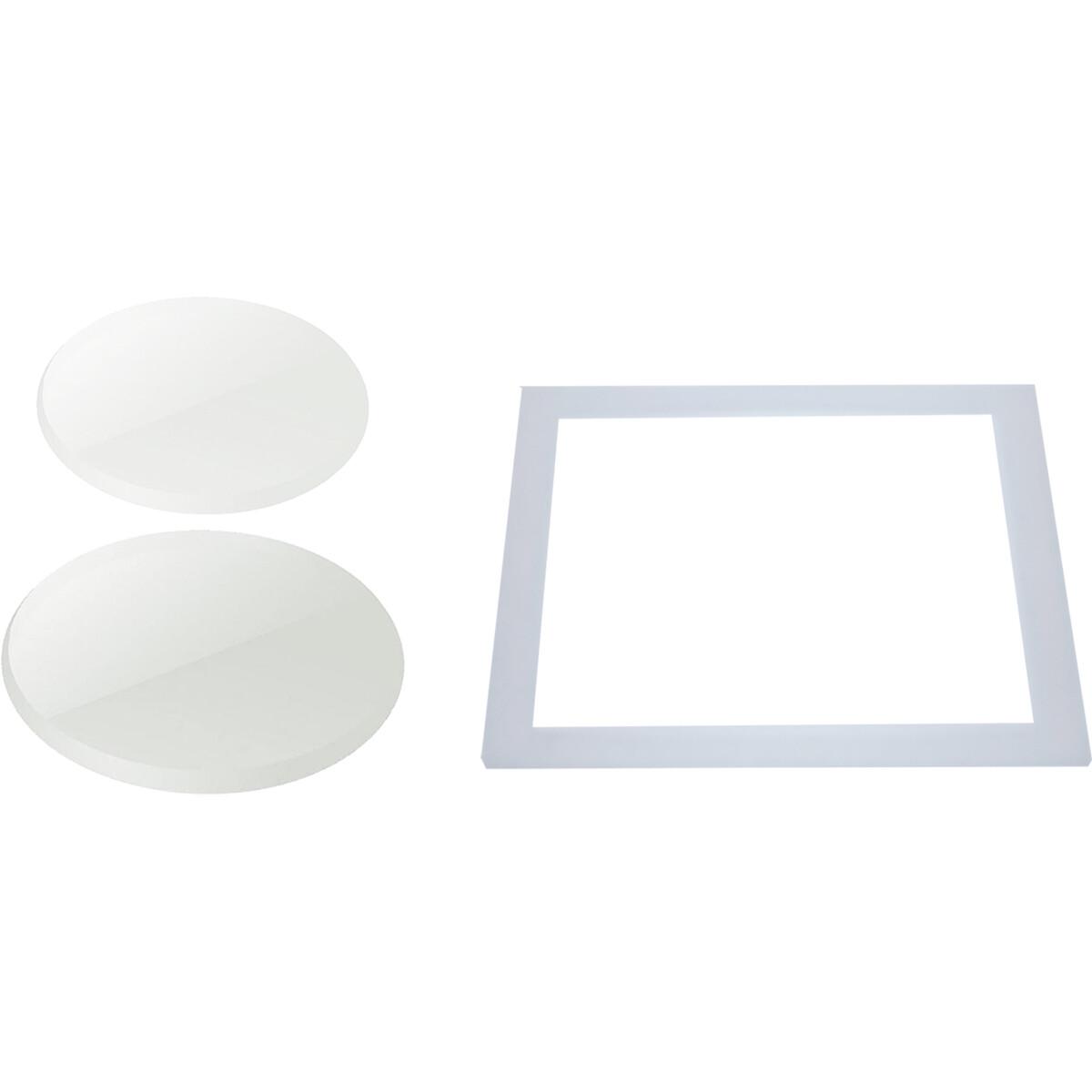 Spot IP65 Waterdicht Kit - Pragmi Weaty - Helder Glas - Melkglas - Vierkant