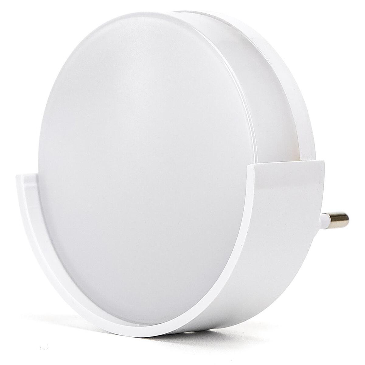 Stekkerlamp Lamp - Stekkerspot met Dag en Nacht Sensor - Aigi Sipas - 1W - Helder/Koud Wit 6500K - R