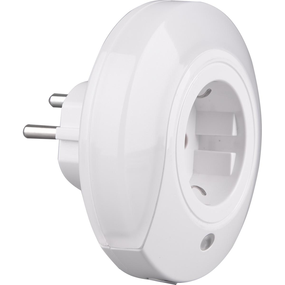 Stekkerlamp Lamp Stekkerspot met Stopcontact Trion Mirloni 6W Warm Wit 3000K Rond Mat Wit Kunststof