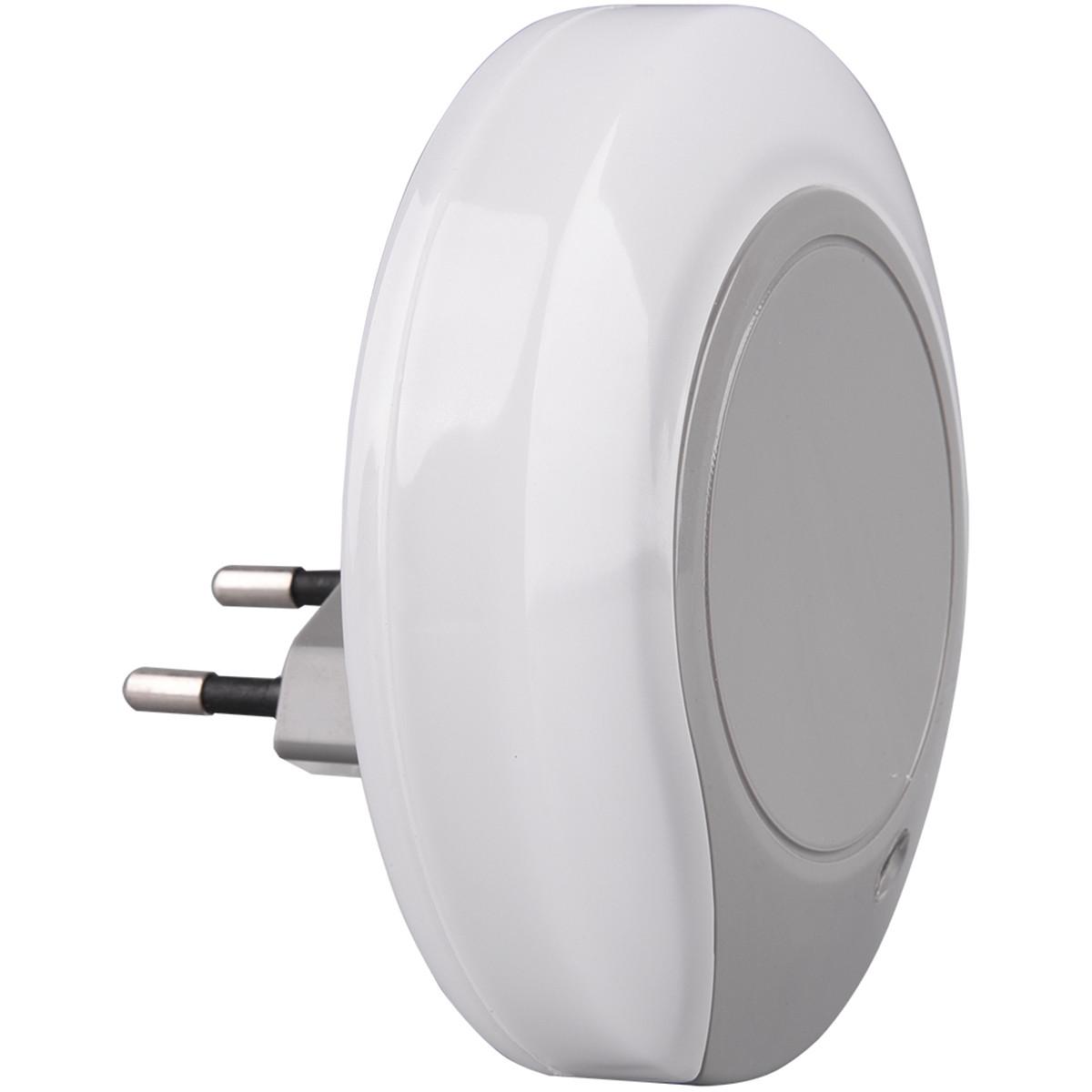 Stekkerlamp Lamp - Stekkerspot - Trion Jiko - 4W - Warm Wit 3000K - Rond - Mat Grijs - Kunststof