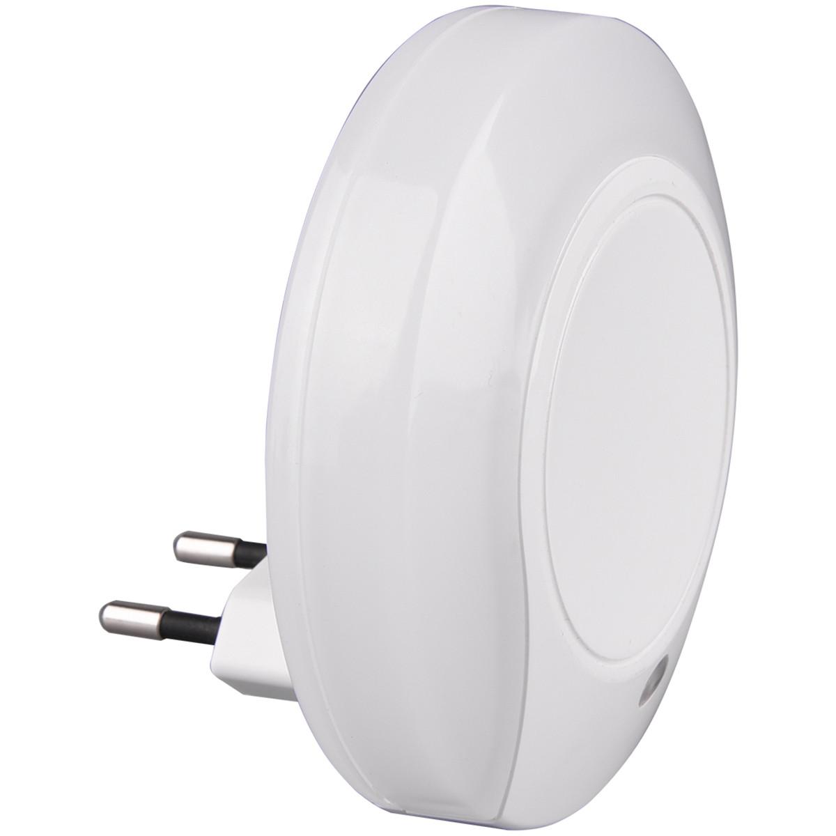 Stekkerlamp Lamp - Stekkerspot met Dag en Nacht Sensor Incl. Schakelaar - Trion Jiko - 0.4W - Warm W