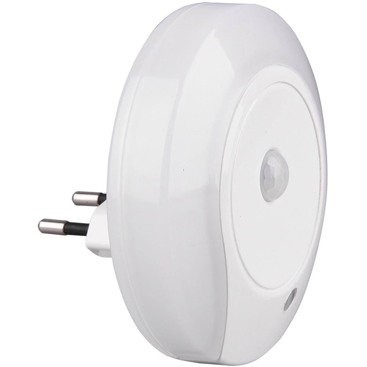Stekkerlamp Lamp - Stekkerspot met Bewegingssensor Incl. Schakelaar - Trion Mirloni - 0.6W - Warm Wi