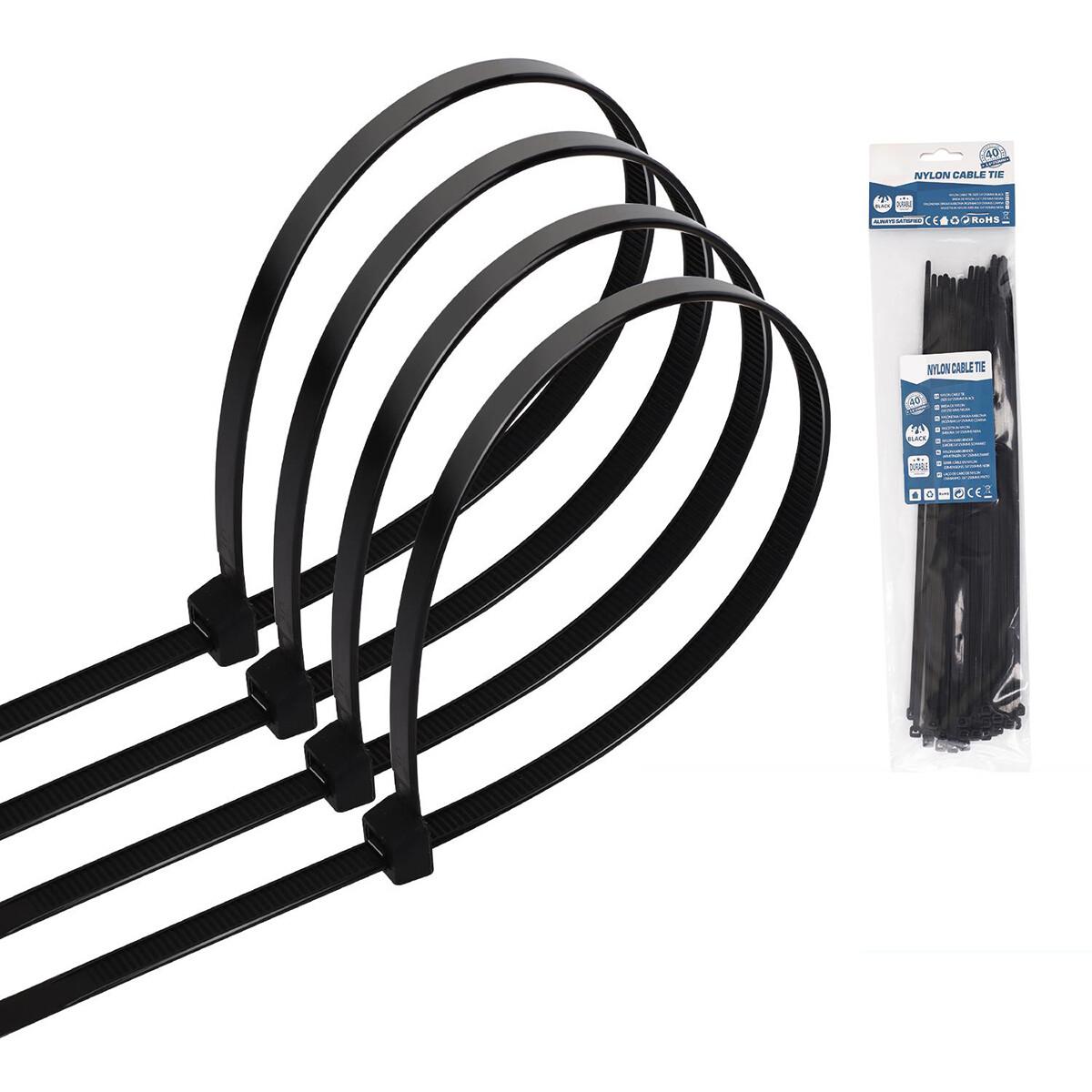 Tie Wraps - Tyrap - Aigi Tie - 3.6x250mm - Zwart - 40 Stuks