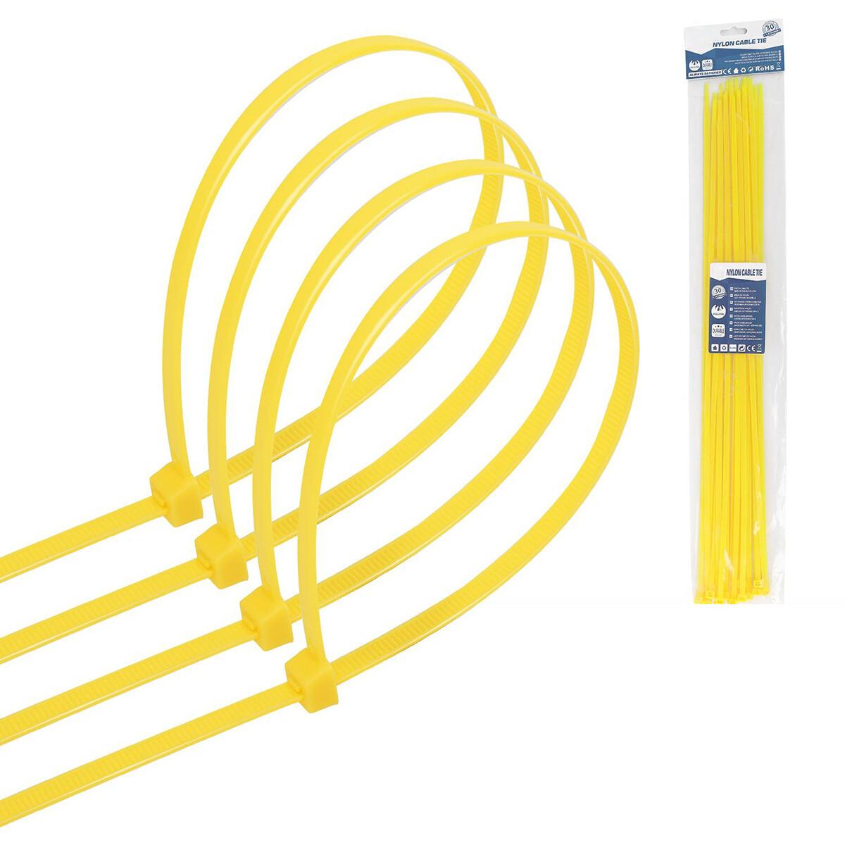 Tie Wraps - Tyrap - Aigi Tie - 4.8x450mm - Geel - 30 Stuks