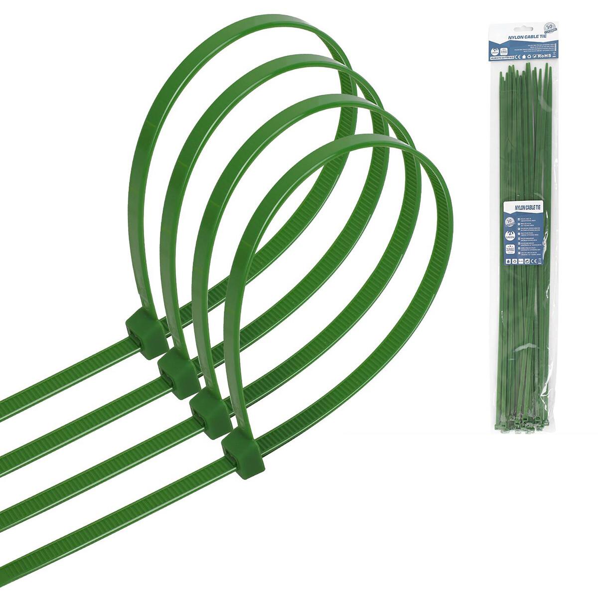 Tie Wraps - Tyrap - Aigi Tie - 4.8x450mm - Groen - 30 Stuks