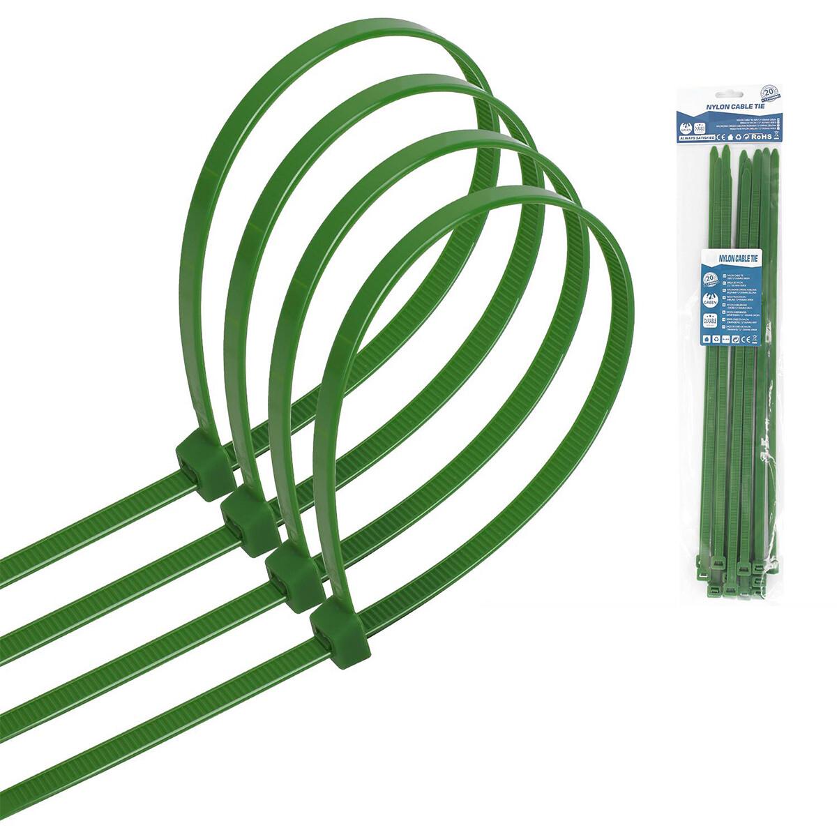 Tie Wraps - Tyrap - Aigi Tie - 7.2x350mm - Groen - 20 Stuks