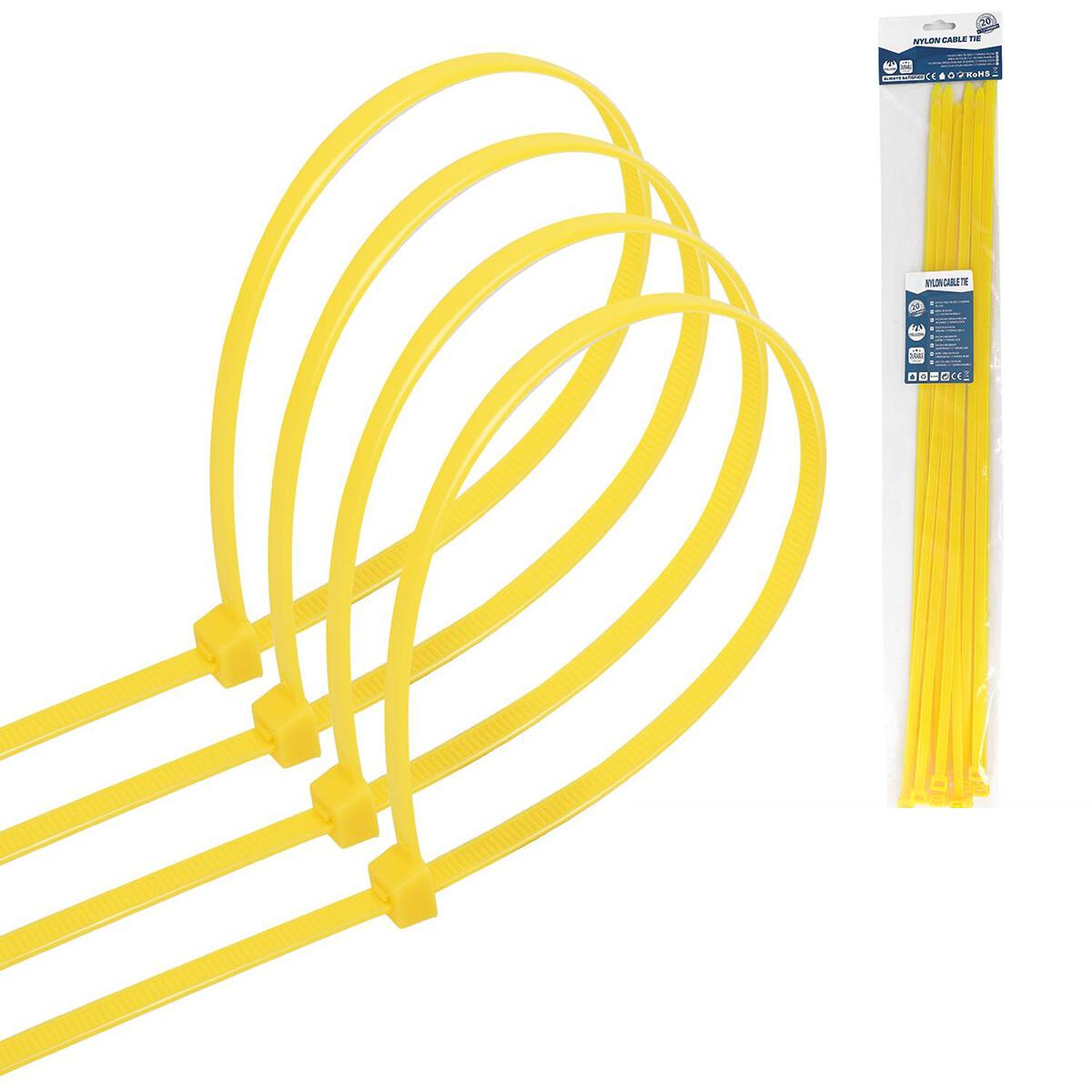 Tie Wraps - Tyrap - Aigi Tie - 7.2x500mm - Geel - 20 Stuks