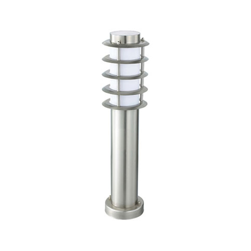 LED Tuinverlichting - Buitenlamp - Nalid 3 - Staand - RVS - E27 - Rond