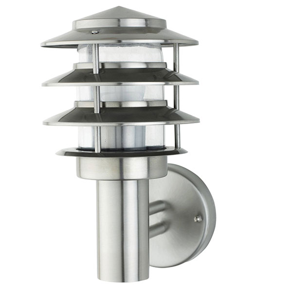 LED Tuinverlichting - Buitenlamp - Kayo 2 - Wand - RVS - E27 - Rond