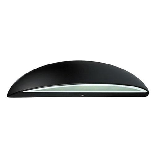 LED Tuinverlichting - Buitenlamp - Assato - Wand - Aluminium Mat Zwart - 3W Natuurlijk Wit 4100K - O