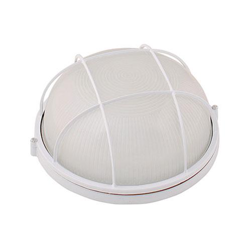 LED Tuinverlichting - Buitenlamp - Montis - Wand - Aluminium Mat Wit - E27 - Rond