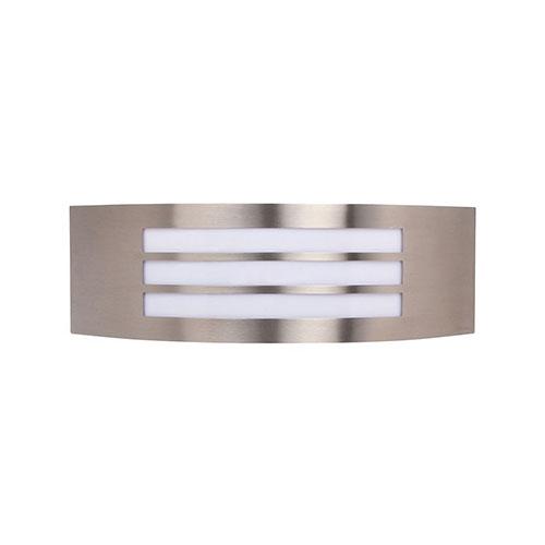 LED Tuinverlichting - Buitenlamp - Manipu 2 - Wand - RVS - E27 - Vierkant